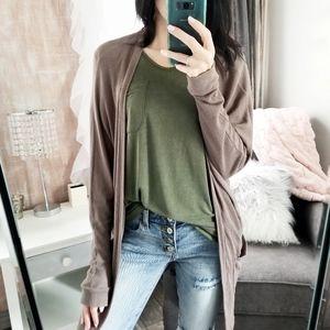 Sweaters - Mocha Soft Knit Cardigan Long Pocket Cardi🌷